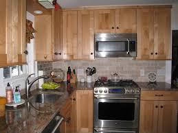 Laminate Kitchen Backsplash Granite Countertop Dark Alder Cabinets Pictures Of Mosaic Tile