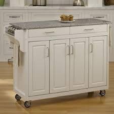 kitchen island cart granite top white kitchen islands carts you ll wayfair
