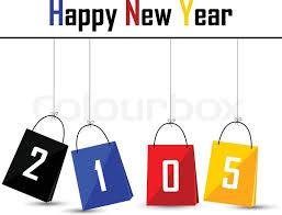 bag new year vector illustration of silhouette happy new year 2015 with bag