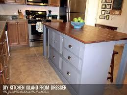 dresser kitchen island diy kitchen island from a dresser wiginton