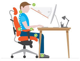 Ergonomic Desk Position Ergonomic Sitting Position On Office And Pc Gaming Chairs High