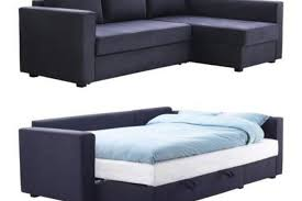 Fold Out Sofa Sleeper Manstad Sectional Sofa Bed Storage From Ikea Apartment Therapy