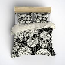 featherweight skull bedding sugar skull and scroll pattern on