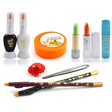adbeni fashion color combo makeup sets with lipstick u0026 rubber band