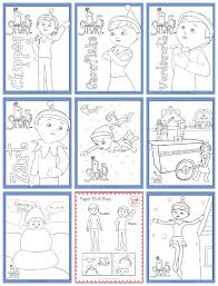 coloring pages of elf elf on the shelf free printable coloring pages thesuburbanmom