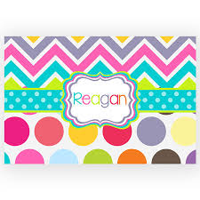 Chevron Kitchen Rug Rainbow Chevron Polka Dots Personalized Kitchen Bath Rug