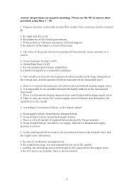 neoclassical labour market principles of macroeconomics exam