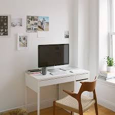Small White Bedroom Desk Furniture Minimalist Nesting Computer Desk From Mdf Inside