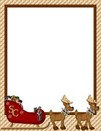 border writing paper christmas border template