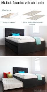 Ikea Hopen Queen Bedroom Set How To Build A Queen Bed With Twin Trundle Ikea Hack
