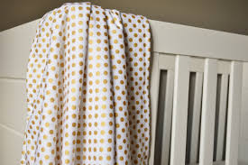 Gold Crib Bedding by Crib Blanket Metallic Gold Dot Crib Blanket Baby Blanket