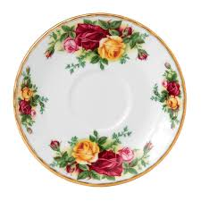 royal albert country roses coffee saucer royal albert uk