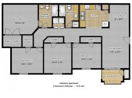 four bedroom floor plans 4 bedroom flat plan waterfaucets
