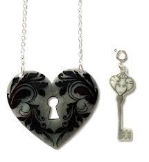 heart lock and key necklace valentine u0027s removable key