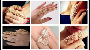 beautiful hand rings images Beautiful full finger gold rings collection fashionable bridal jpg