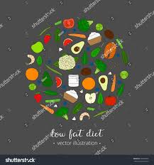 foods weight loss low fat diet stock vector 391865626 shutterstock