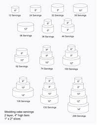 wedding cake ingredients list this tiered cake chart is for number of pieces and pricing
