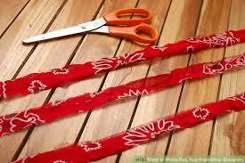 Rag Rug Friendship Bracelet How To Make Rag Rug Friendship Bracelets 8 Steps With Pictures
