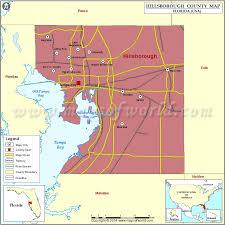 Map Of North Florida Counties Hillsborough County Map Florida
