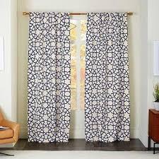 Moorish Tile Curtains Window Treatments Moorish Tile Curtain