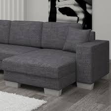 canapé angle tissu gris d angle convertible marcos tissu gris foncé