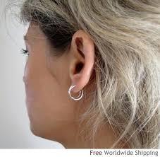 tiny hoop earrings sterling silver small hoop earrings 10mm endless mini hoops