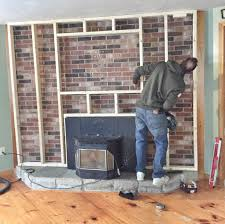 fireplace stone fireplace makeover within our brick fireplace