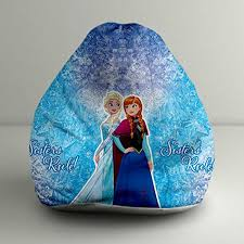 disney frozen anna u0026 elsa digital printed xxl bean bag cover at