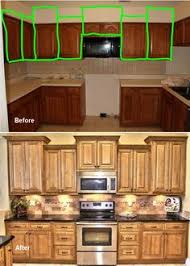 Kitchen Cabinet Dimension Sister This Is Pretty Black Crown Molding With Brown Stain Band