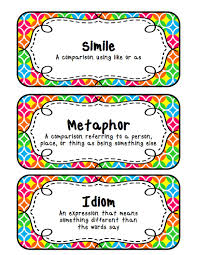 fit to be fourth similes metaphors idioms with a freebie