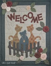 ulla s quilt world cats wall hanging quilt