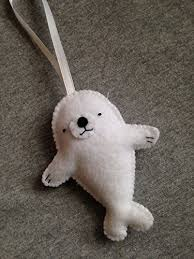 baby seal felt ornament holidays baby