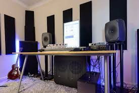 Producer Studio Desk by Producer Shawn Naderi U0026 His Genelec 8351 U0026 7271 Sam Monitor System