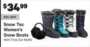groupon s boots groupon black friday tec s boots w ear muffs for