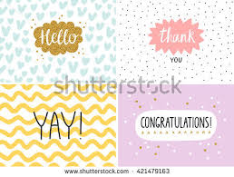 happy cards happy cards set vector templates stock vector 421479163