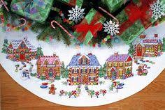 counted cross stitch kit 45 sleigh ride tree skirt in