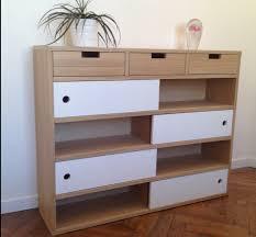 console 3 tiroirs console en chêne design avec porte coulissante meubles et