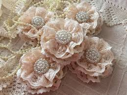 shabby flowers 5 shabby chic cotton lace handmade flowers 2222352 weddbook