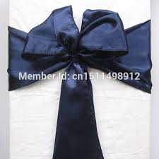 Sashes For Sale Sale Navy Blue Satin Chair Cover Sash Satin Sash Chair