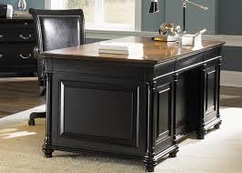 Home Office Executive Desk Ives Executive Home Office Desk In Two Tone Finish By Liberty