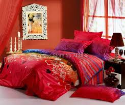 red comforter cover twin xl duvet cover dorm comfort bedding 4pc queen full king cotton comforter duvet covers sweetheart flower pattern red purple fashion wedding bedding
