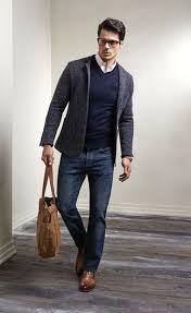 blazer sweater s charcoal wool blazer navy v neck sweater white sleeve