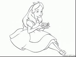 magnificent alice wonderland coloring book pages alice