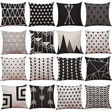 taie coussin canapé et blanc géométrie motif housse de coussin lit et la maison canapé