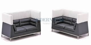 White Leather Loveseats Modern Line Furniture Commercial Furniture Custom Made