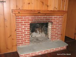 wooden wall design idea of brick decoration in fireplace