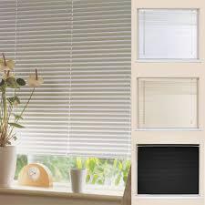 pvc venetian blinds cream white black 150cm u0026 210cm drop