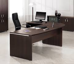 Leather Office Desk Modern Chocolate Wooden Best Home Office Desk Chrome Cool Table