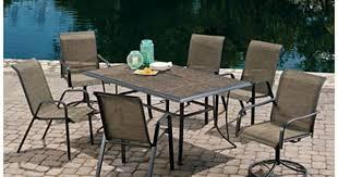 Mainstays Crossman 7 Piece Patio Dining Set Green Seats 6 279 99 Set Wilson U0026 Fisher Monterra 7 Piece Sling Dining Set