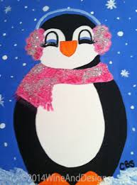 penguin canvas painting google search painting ideas